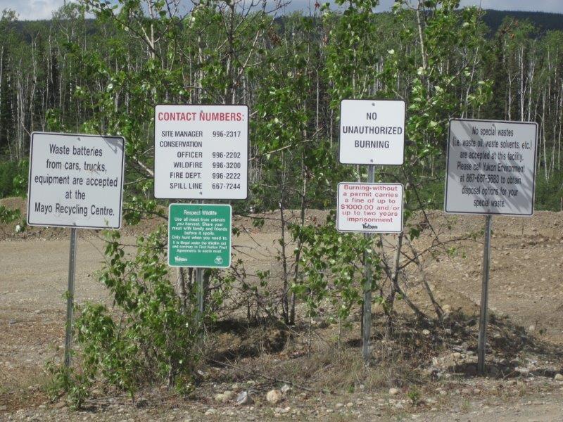 Landfill signs